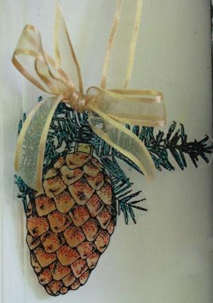 2010 12 LRoberts Transparent Pinecone Ornament