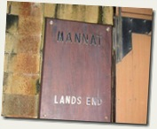 Mannat Lands End: the doorway sign