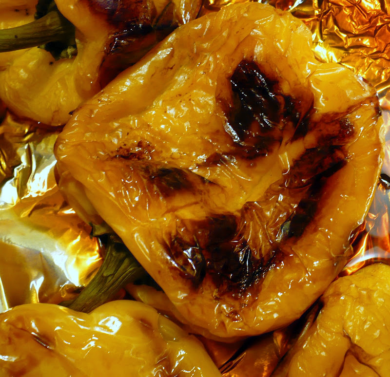 Russian Gourmet: Roasted Bell Peppers With Garlic