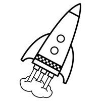 jugarycolorear.com- Cohete