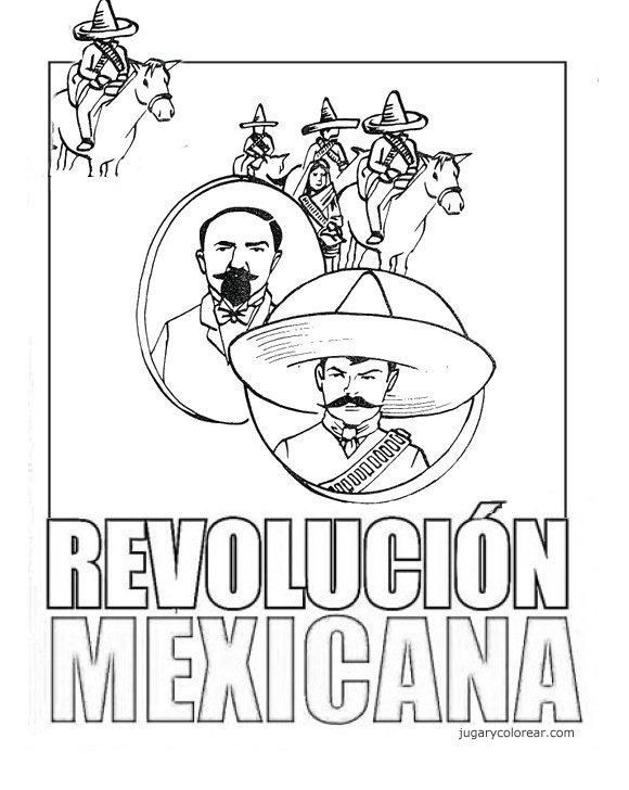 TE CUENTO UN CUENTO: Dibujos para coloreasr de la Revolución Mexicana