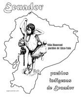 111colorear dibujos ecuador indigenas 1