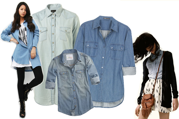 M a d mag fashion chambray shirt for Cuisine you chambray