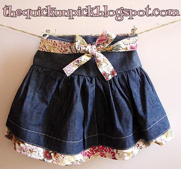 twirly denim skirt