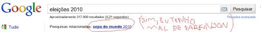 resultado eleições 2010 no Google