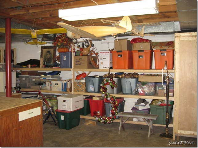 ll share some crafting organization on the other side of the basement