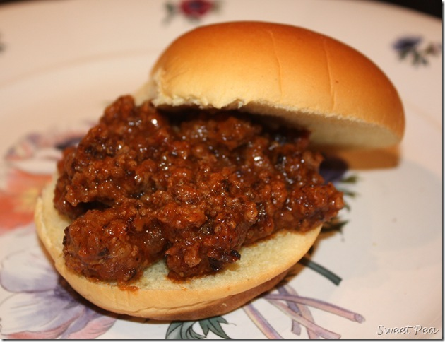 Sloppy Joes - Hamburger in a sweet and flavorful sauce is so good served on a bun as a sandwich. Sloppy Joes make an easy weeknight meal. virginiasweetpea.com