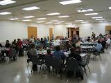 Wed nite supper - dining in Lucas Hall.JPG
