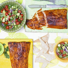 Smoky Paprika Salmon With Avocado, Tomato & Jalapeño Salad