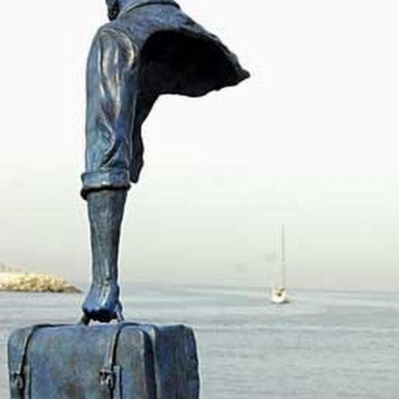 Bruno Catalano's Half Sculptured Travelers