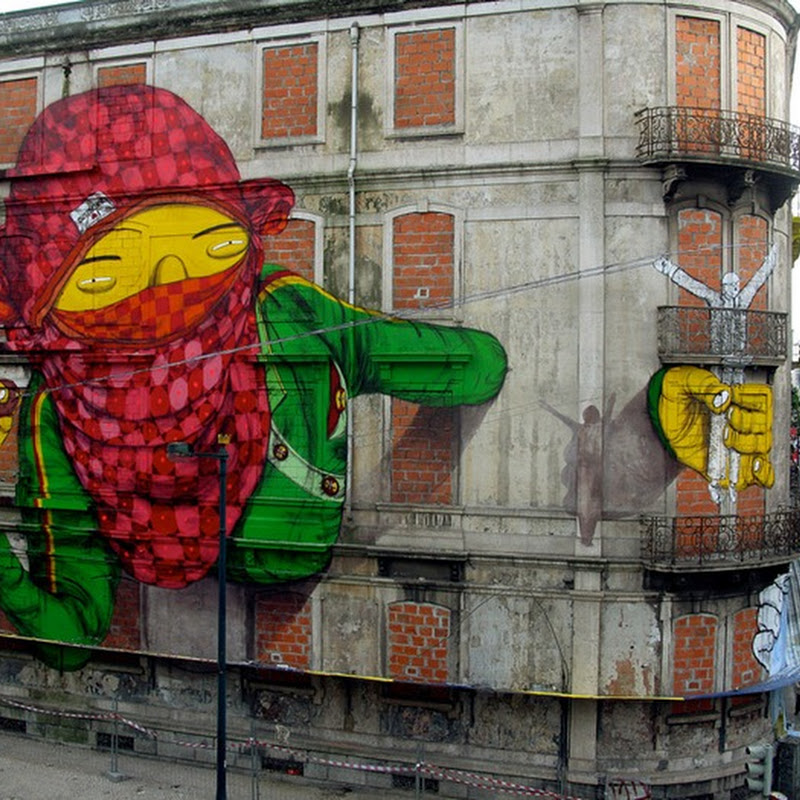 Massive Graffiti Art by Os Gemeos and Blu