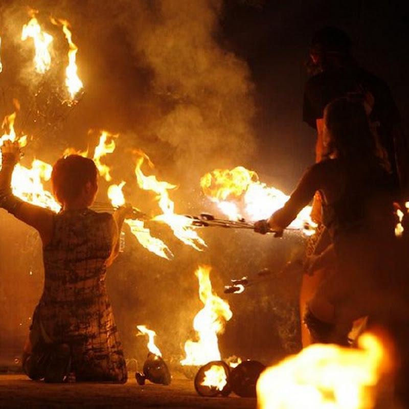 International Fire Festival in Kiev, Ukraine