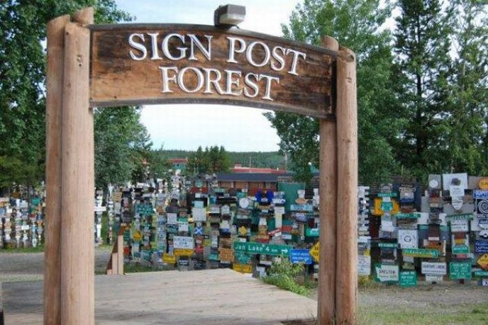 Sign Post Forest of Watson Lake, Alaska