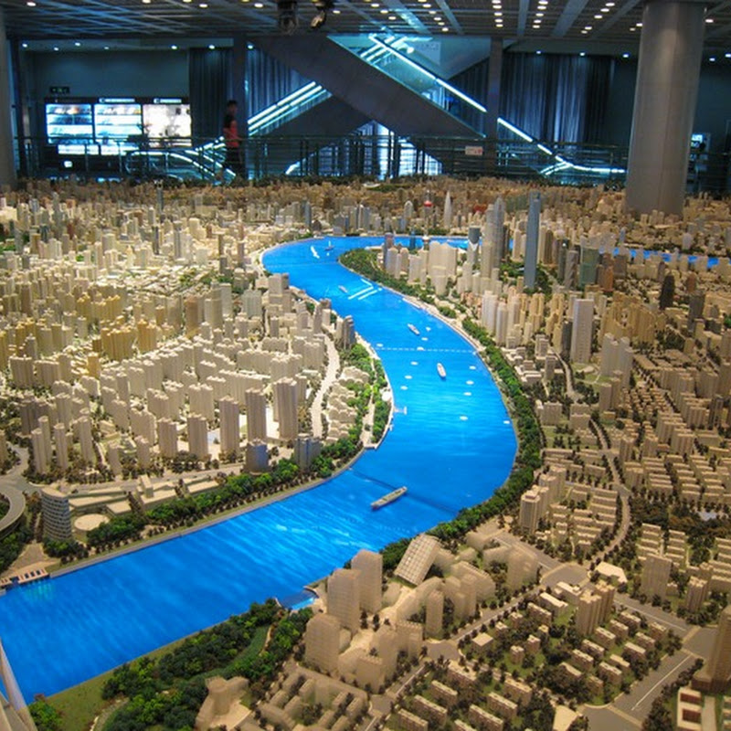 Gigantic Scale Model of Shanghai