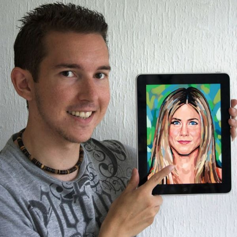 Kyle Lambert's iPad Portraits of Celebrities