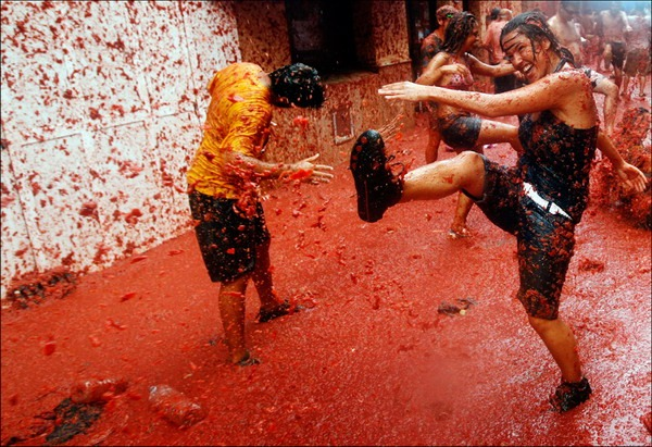 Spain Tomatina Food Fight