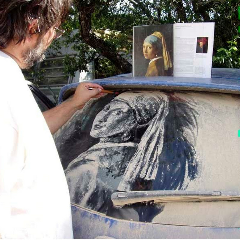 Scott Wade Turns Dusty Car Windows Into Work of Art