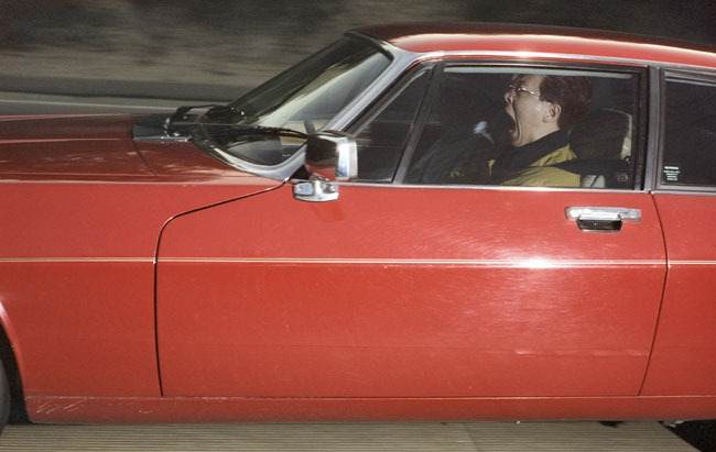 Man traveling 73 mph toward an overpass on a Tuesday morning outside of Portola Valley, California, on an afternoon in March 1992