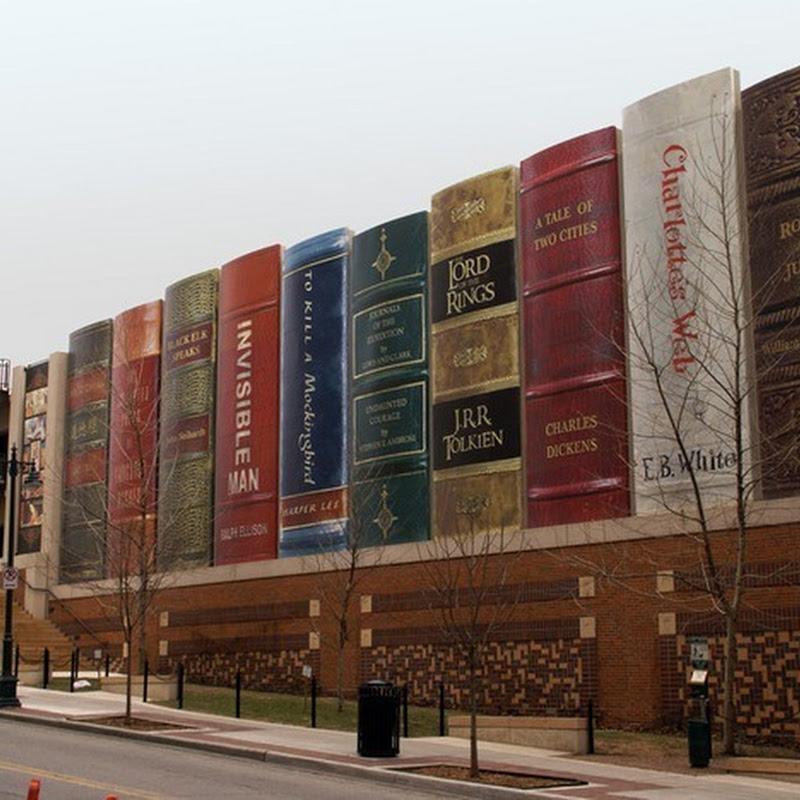 Kansas City Library's Giant Bookshelf