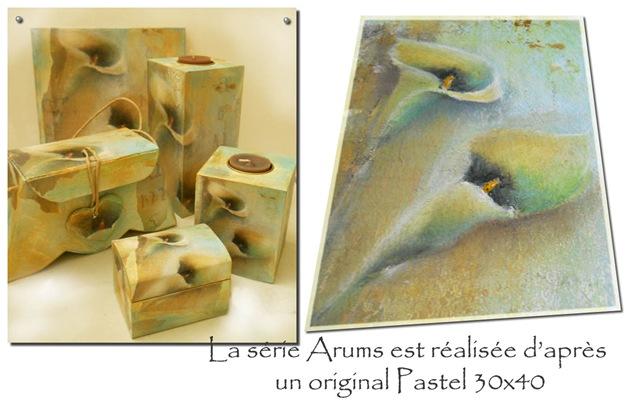Série Arums  pastel MT