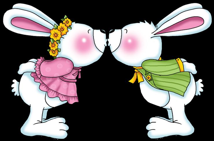 Imagem Casal Png ~ Imagem para face Casal de coelhos se beijando desenho em png 254