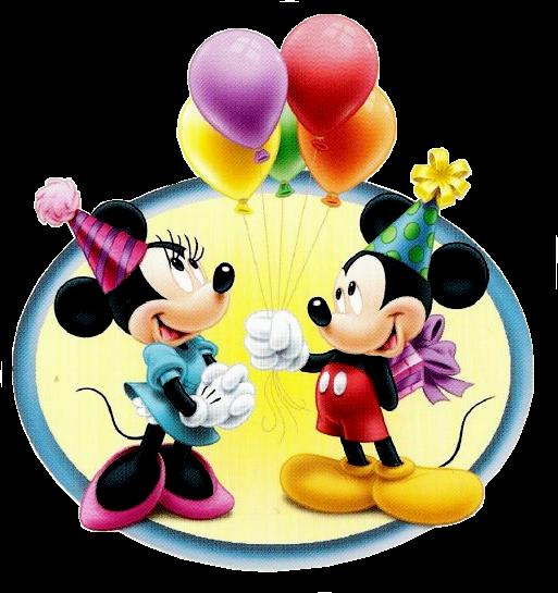 Minie e Mickey mouse segurando bexigas balões de f