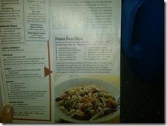 Recipe of Pasta Toss in April Issue of Runner's World Magazine
