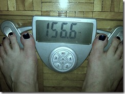 Weigh-in for Monday, April 26 - 156.6lbs