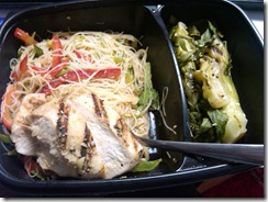 Chicken, noodles & bokchoy