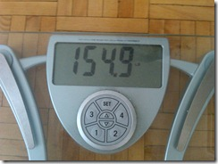 Weigh In for July 5 - 154.9
