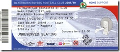Rovers vs Chelsea stub