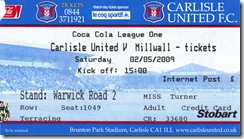 carlisle vs mill ticket