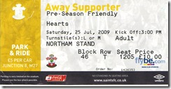 Saints vs Hearts ticket