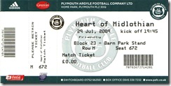 PA vs Hearts ticket
