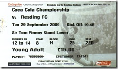 PNE vs Read ticket
