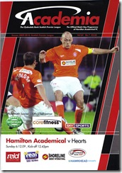 Accies vs Hearts 09-10 prog