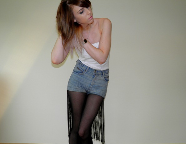 FRINGED TASSLE DENIM SHORTS 3