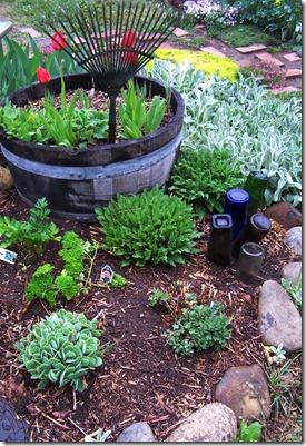 rake and bottle garden