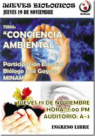 JUEVES BIOLOGIO CONCIENCIA AMBIENTAL COLOR