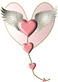 heart wings PNG 1