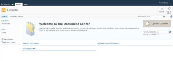 2 Site Document Center Created