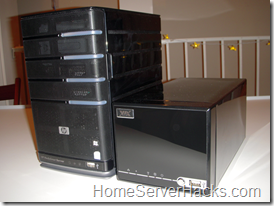 HP MediaSmart Server vs. VIA A2000