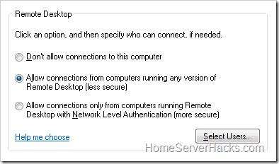 windows 7 home basic remote desktop hack