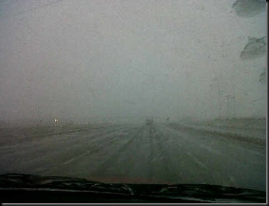 This is what we are driving through!  Just about there though.