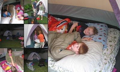 View Back yard camping