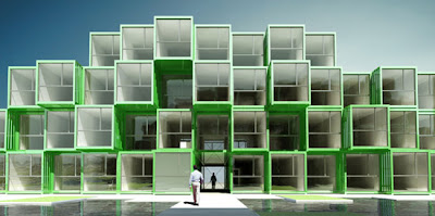 Project Crou by Olgga Architects in France: shipping containers recycled into student housing