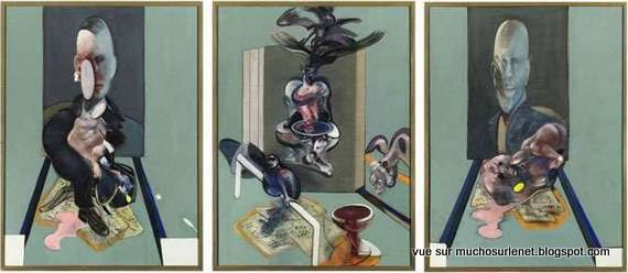 Triptyque, 1976 par Francis Bacon