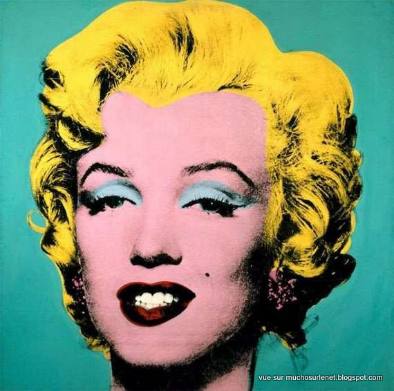 Turquoise Marilyn par Andy Warhol