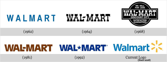Évolution des logos de grandes sociétés - WALMART