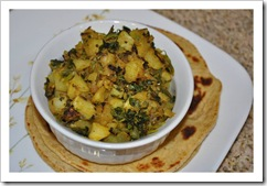 Priya Y's Aloo Methi ki Sabzi and Paratha